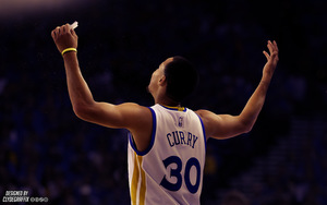 Stephen Curry Hands Up | Lighting | Wallpaper by ClydeGraffix
