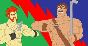 Sheamus vs Haggar Pipe Battle by McGreger16