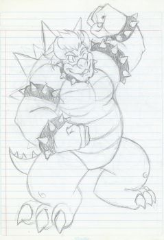 The King Bowser (old Sketch) by MileenaKoopa