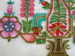 Raw Silk Table Cloth Detail by Canankk