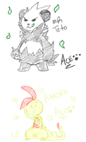 Ace draws your oc's part 2 by McPippypants