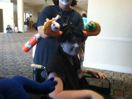 Tavros messing with our Dango's by Undead-Autumn