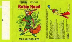 Robin Hood Chocolate Wrapper by Damien-Mildury