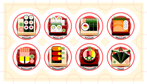 Geometric Sushi by littlecrow