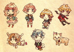 Custom box Chibis by Ekkoberry