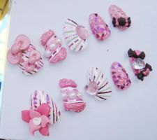 JUST ANOTHER CUTE 3D NAIL SET by jadelushdesigns