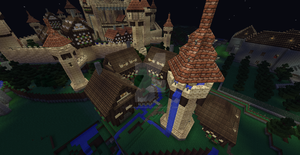 Vinnsbruck Village Houses and Tower of Water! by UNDEADWARRIOR7411