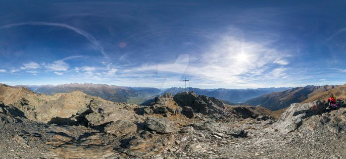Boeses Weibele (2521m) - spherical panorama by cyberfish128