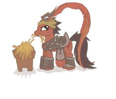 Lu Bu Pony by zombieskully