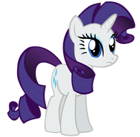 My fourth vector of Rarity. by Flutterflyraptor