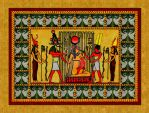 egyptian gooddess Isis and god Horus Version 2016 by Mikewildt