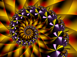 Purple and Yellow Spiral by DennisBoots