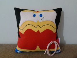 Handmade Wonder Woman Fan Art Plush Pillow by RbitencourtUSA