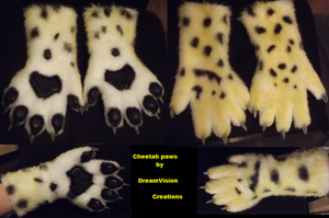 Cheetah Handpaws by Monoyasha