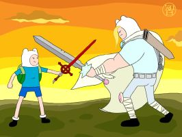 Training Time with Finn and Finn by -coldfusion-