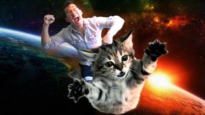 Markiplier Riding on a Cat. by Kerfluffles