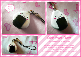 Onigiri Phone Charm by Kezzi-Rose