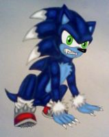 Sonic the Werehog by GothNebula