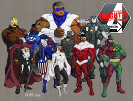 Mighty Avengers by hulkdaddyg