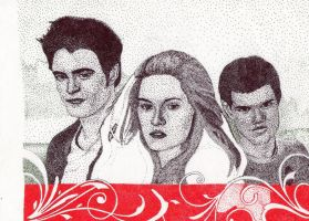 Edward, Bella and Jacob 2 by Michelles-Stuff