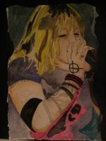 otep crayon and ink by creatyvemynds
