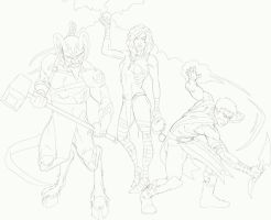 Trio WIP by JOEYDES
