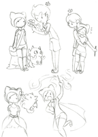 Random Adventure Time OC sketches by The-Infamous-TCT