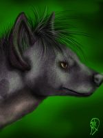 Shenzi, the Hyena by Mist-Howler