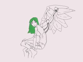 WIP Mech Angel by PaultheMediocre