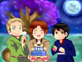 Happy New Year! Hetalia Axis Powers by Jovunara