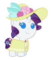 Baby Rarity's First Garden Party by Beavernator