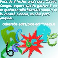 Pack 4 textos png's Camila Conges. by celestebs