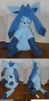 Glaceon Plush by teenagerobotfan777