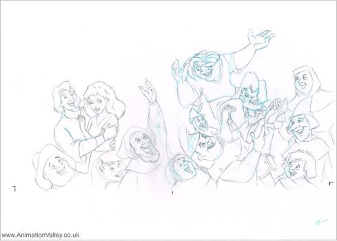 Original Hand Drawn Disney Hunchback Concept Art by AnimationValley