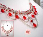Red Drops Necklace by Efio-47