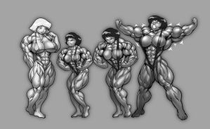 Alex muscle growth sequence by Pokkuti