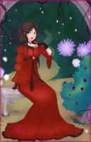 Lady in red by RubyNina