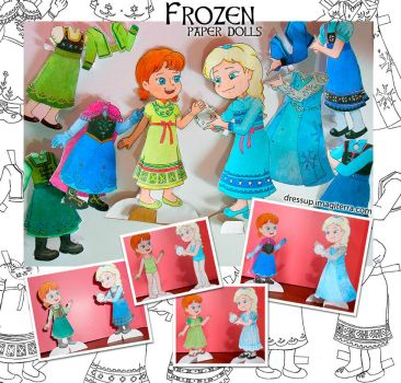 Printable Frozen Paper Dolls by gianjos