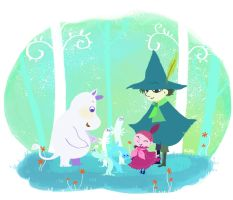 Moomin by nanibott