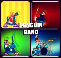 The Penguin Band by BlaziChicken