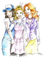 Flo and her friends by Lilinanana86