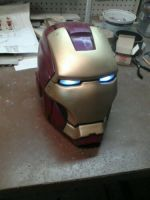 Iron man Super hero helmet by DarkAsylumxxx