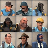 [SFM] TF2 Avatars Class (BLU) by TheYoshiPunch