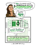 Emerald City Comicon 2015 - Booth 905! by shoomlah