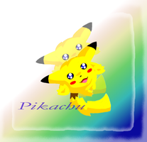 Jumping Pikachu by Jiayi