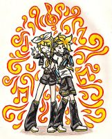 Rin/Len - Colourful Music by Shaynihx
