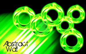 Abstract Green Rings by TripleXPlaya
