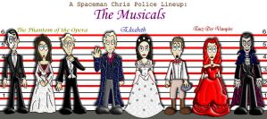 Police Lineup: Musicals by Spaceman-Chris