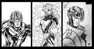 X-Men Sketches by Kenpudiosaki