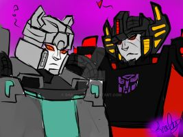 Sideswipe and Sunstreaker by sharrin12